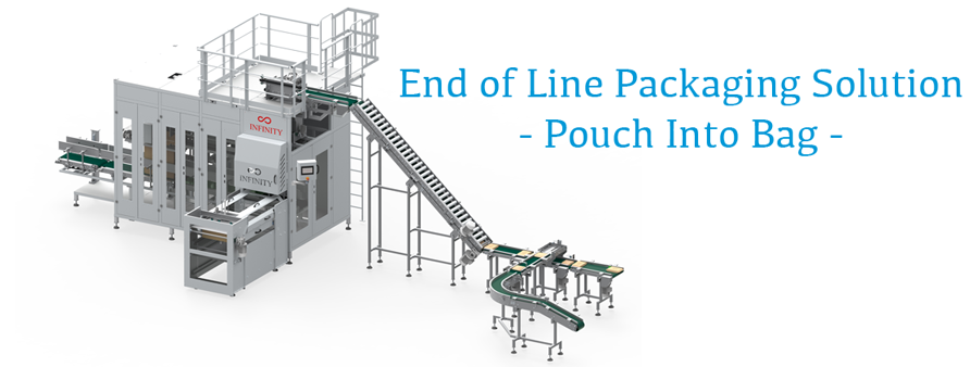 End of Line Packaging Machine - Pouch Into Bags